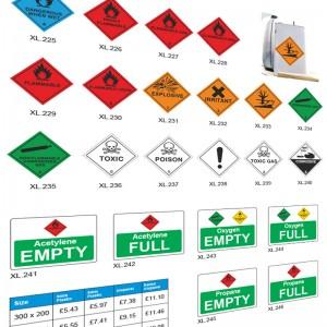 Cylinder Signs & labels
