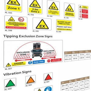 Explosive and Blasting Signs