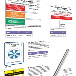 Hazard & Weather Warning Signs