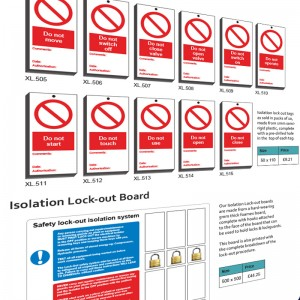 Machinery Isolation Signs