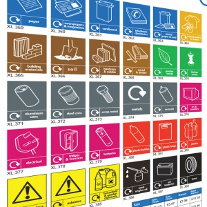 Recycling Labels & Signs