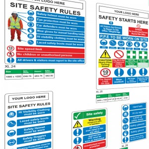 Site Safety Rules Signs