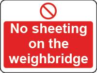 No sheeting sign