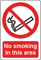 No smoking in this area