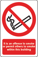 No smoking - building sign