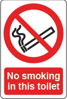 No smoking toilet sign