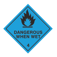 Dangerous when wet sign
