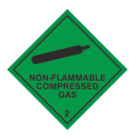 non-flammable compressed gas sign
