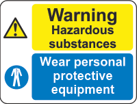 Warning Hazardous substance