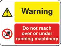 warning - machinery sign