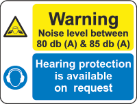 warning - noise level sign
