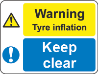warning - tyre inflation sign