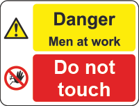 danger - men at work sign