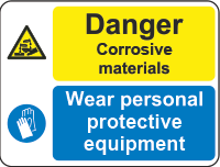 danger - corrosive materials sign