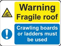 danger - fragile roof sign