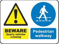 beware quarry vehicles crossing