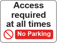 access required - no parking