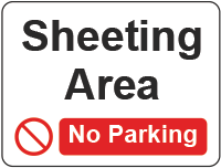 Sheeting Area - No parking