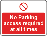 no parking - access required