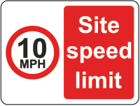 10mph site speed sign