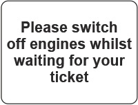 switch engines off sign