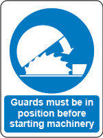 Guards must be in position